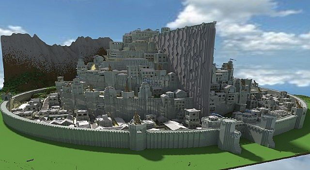 Minas Tirith Capital Of Gondor Minecraft Project