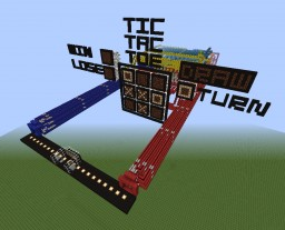 Redstone Tic Tac Toe Minecraft Project