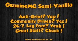 GenuineMC Semi-Vanilla [1.12.1] Minecraft
