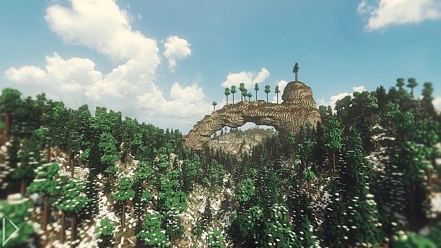 Natural arch in Yongar.