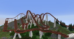 Minecraft Roller Coaster - Red Serpent Minecraft Map & Project
