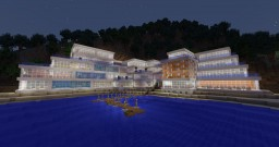 Aquamarine Resort & Futuristic underground city Minecraft Map & Project