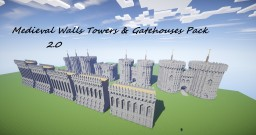Medieval Walls Towers & Gatehouse Pack 2.0 Minecraft Project