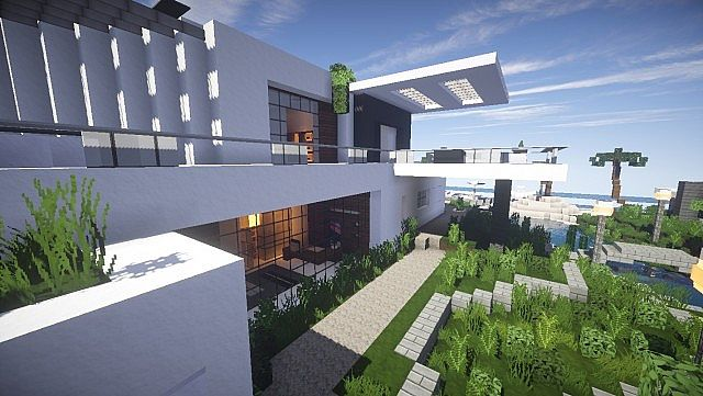 Lift Modern Beach House 1 Minecraft Project