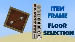 Multi-Floor Elevator with Item Frame Floor Selection, Call Function + more Features Minecraft Project