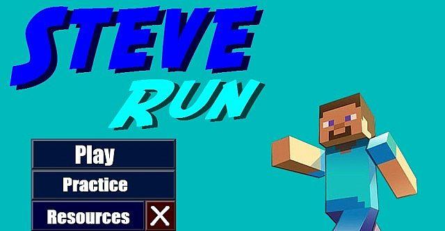 Steve Run 2d Minecraft Platformer Minecraft Mod