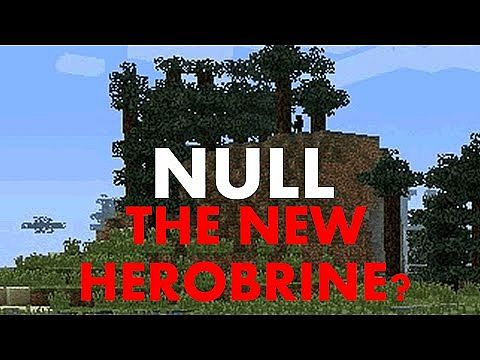 Null The So Called Quot New Herobrine Quot Minecraft Blog