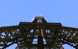 epic eiffel tower but unfinished due to world height limit Minecraft Map & Project