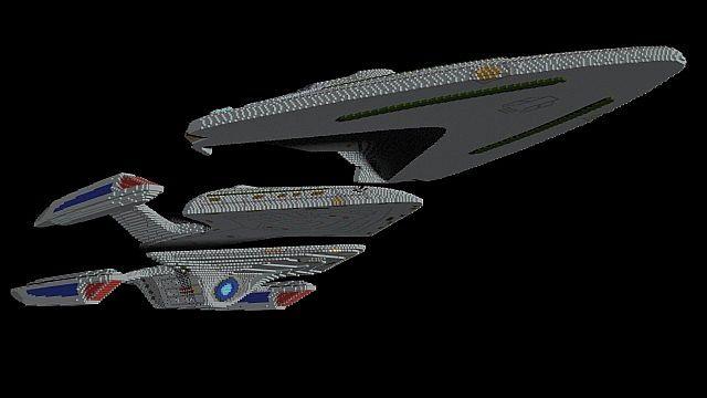 1 1 star trek fleet no interiors minecraft project for Star trek online crafting leveling guide
