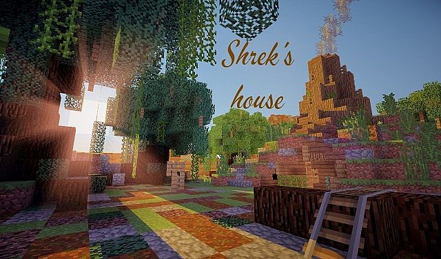 Shrek's swamp house Minecraft Project