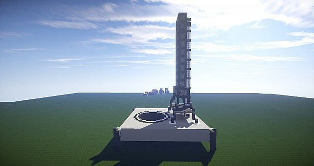 how to build a rocket in minecraft