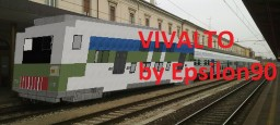 Trenitalia Vivalto Train (4 passenger cars + E464 locomotive) Minecraft Map & Project