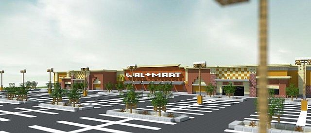 Walmart Supercenter - Western Architecture Minecraft Project