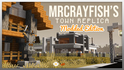 NEW UPDATE!: MrCrayfish's Town Replica - (Modded) Minecraft Map & Project