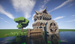 Medieval / Fantasy Watermill Minecraft Map & Project