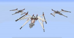 Ultimate Upgrade X-Wing Starfighter Minecraft Map & Project