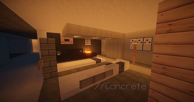 how to make a modern living room in minecraft