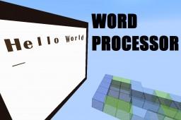 Showcase: Word Processor Minecraft Map & Project