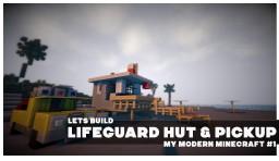 Baywatch Lifeguard Hut & Pickup Minecraft