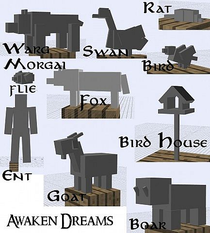 upcoming mobs  many more have been made and also textured!
