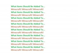 What Items Should Be In Minecraft 2! Minecraft Blog Post