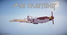 P-51 Mustang [3:1 Scale] Minecraft
