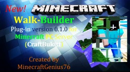 Walk Builder - Minecraft Server Plugin Minecraft Mod
