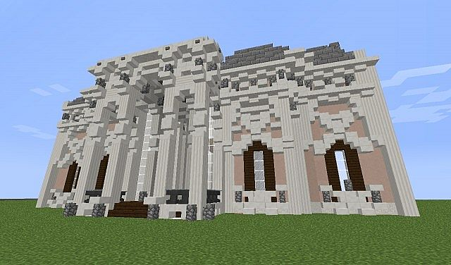 French Italian Neoclassical Baroque Mansion Minecraft Project
