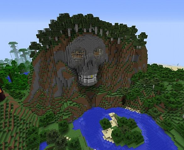Mountain Skull Fortress Minecraft Project
