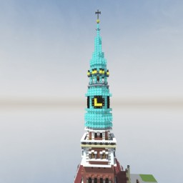 Baroque style Copper Cladded Onion Dome Spire 53m tall Minecraft Map & Project