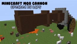 MineCraft MOB Cannon! | Activate the cannon, load gunpowder, choose your mobs, and shoot!