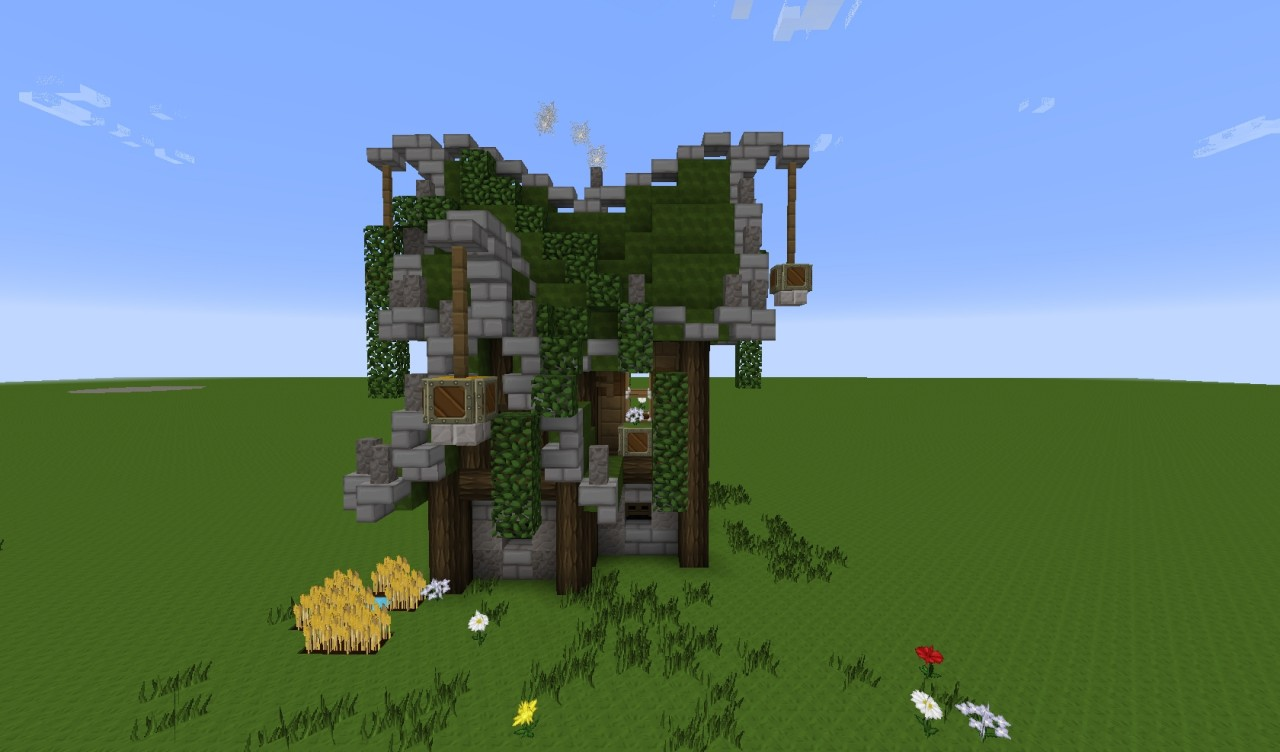 How To Build A Small Elven Medieval House Minecraft Blog