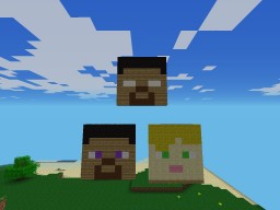 Steve, Alex and Herobrine. C O N T E S T!!!! Minecraft Blog Post