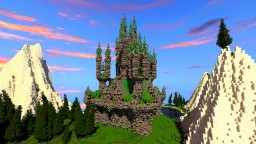 Emerald Palais on a floating Island Minecraft Map & Project