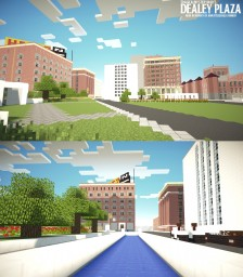 Dealey Plaza - Dallas Texas 1963 (JFK Memorial) Minecraft