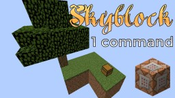 Skyblock in a command Minecraft Map & Project