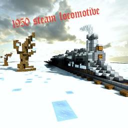 1950 Steam locomotive Minecraft Map & Project