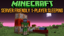 Server Friendly 1-Player Sleeping Tutorial Minecraft