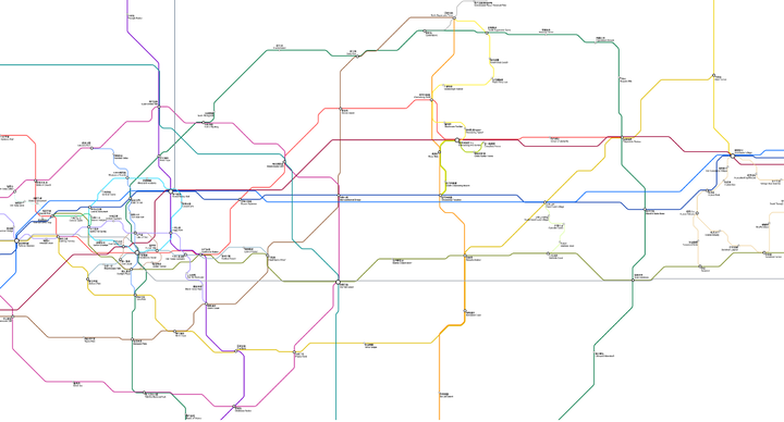 Partial railway route map as of 2021-05-23. You may explore even more railway lines!