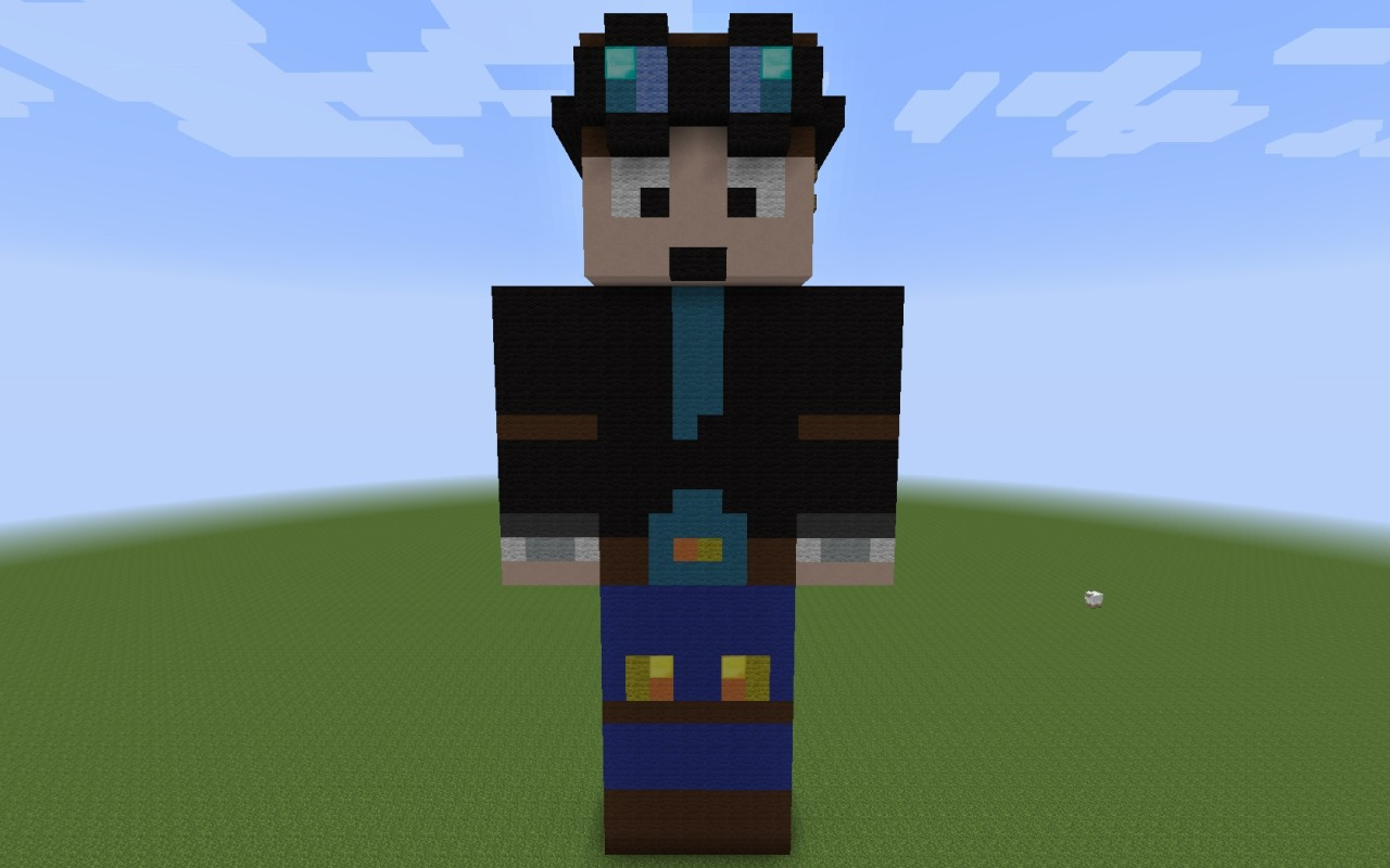 DanTDM 3D Art Minecraft Project