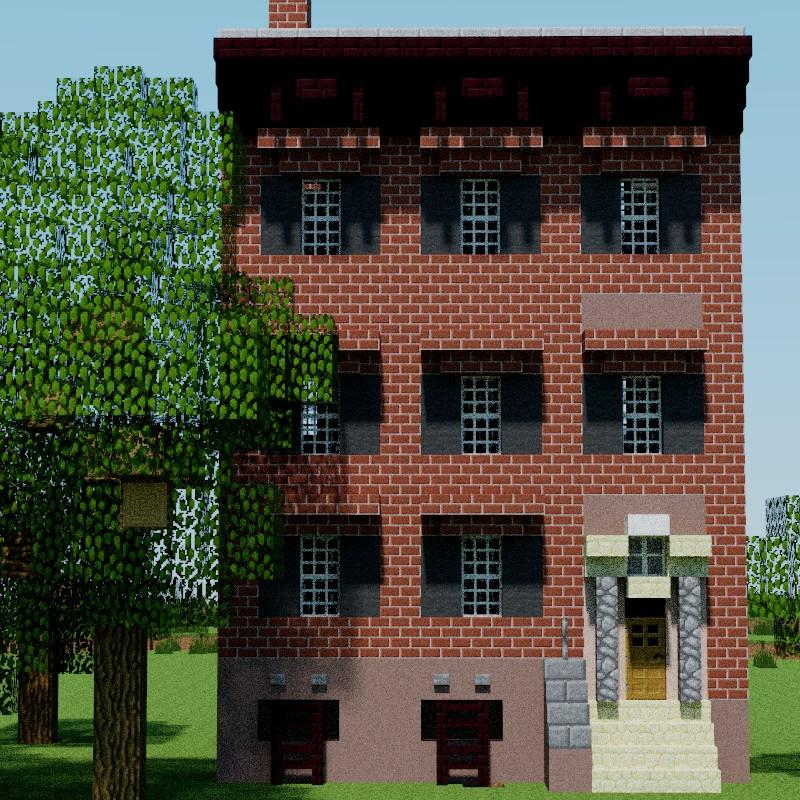 Minecraft Street: 203 Prince Street, Manhattan, New York City, USA Minecraft