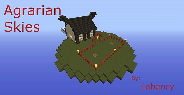 agrarian skies custom map minecraft project
