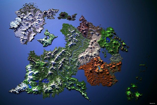 Le Monde A 16k Blocks Wide Gigantic Survival World Map 1 8 Ready