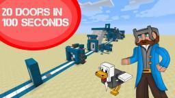 Minecraft: 20 Doors in 100 Seconds Minecraft