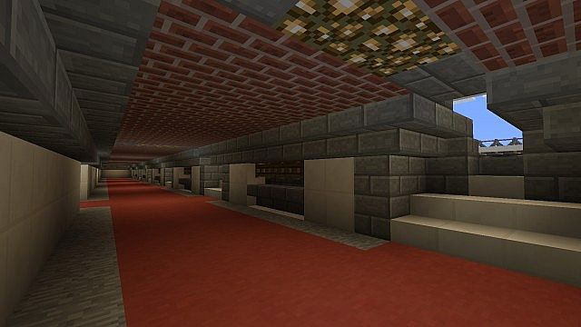 Inside the kop with shops and toilets.