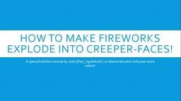 [1.8]How to make custom minecraft fireworks Minecraft Blog Post
