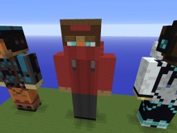 Statue of FiskFille Minecraft Project