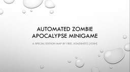 [1.8]AUTOMATIC ZOMBIE APOCALYPSE MINIGAME FOR MINECRAFT Minecraft Map & Project