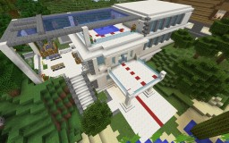 Modern white house Minecraft Project