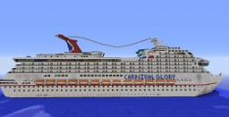 Carnival Glory 1:1 Scale cruise ship w/ Full Interior Minecraft